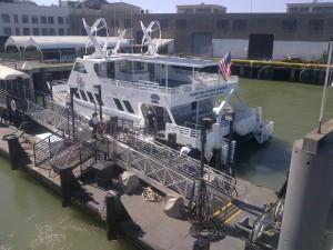 Hybrid Boat at Dock